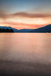 """""""Donner Lake Sunset 43"""" - Photography of Donner lake in Truckee, California shot at sunset"""