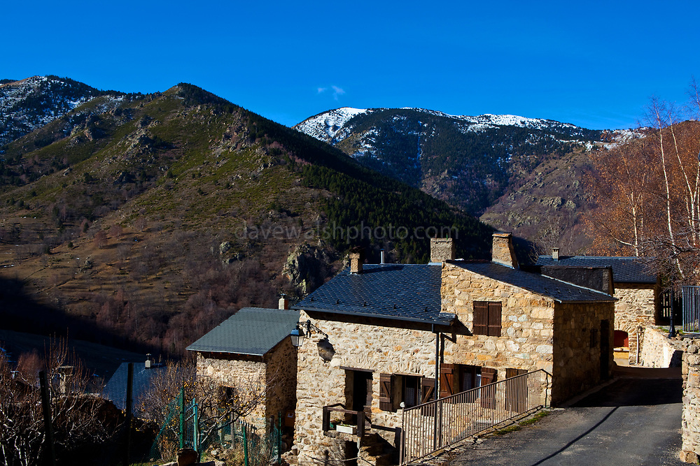 The remote mountain village of Mantet, in the French Pyrenees-Orientales, and on the border with Catalonia.