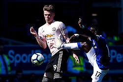 Scott McTominay of Manchester United takes on Idrissa Gueye of Everton - Mandatory by-line: Robbie Stephenson/JMP - 21/04/2019 - FOOTBALL - Goodison Park - Liverpool, England - Everton v Manchester United - Premier League