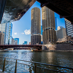 Chicago Riverwalk and Marina City
