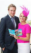 At the launch of The Galway Races summer festival 2015 were Milliner Edel Ramberg and Philip Black . The launch was held at the Radisson blu Galway  .Photo:Andrew Downes:XPOSURE