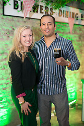 Repro Free: 14/03/2014 Claire Murphy and Gianmarco Alvarado <br /> pictured at the Guinness Storehouse St. Patrick&rsquo;s Festival. The four day festival is showcasing some of Ireland&rsquo;s best music, food and rugby over the weekend including an intimate performance by acclaimed rock band The Coronas. Enjoy GUINNESS sensibly. Visit drinkaware.ie Pic Andres Poveda