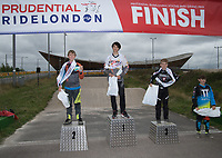 BMX presentations for the Prudential RideLondon BMX Finals. Prudential RideLondon 28/07/2017<br /> <br /> Photo: Bob Martin/Silverhub for Prudential RideLondon<br /> <br /> Prudential RideLondon is the world&rsquo;s greatest festival of cycling, involving 100,000+ cyclists &ndash; from Olympic champions to a free family fun ride - riding in events over closed roads in London and Surrey over the weekend of 28th to 30th July 2017. <br /> <br /> See www.PrudentialRideLondon.co.uk for more.<br /> <br /> For further information: media@londonmarathonevents.co.uk