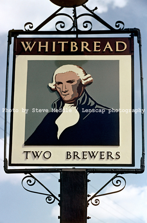 Pub Signs, Two Brewers, Yalding, Kent, Britain