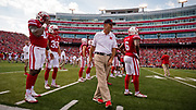 Lincoln, NE - Sept 23:  Coach mike Riley before their game against the Rutgers Scarlet Knights at Memorial Stadium in Lincoln Nebraska September 23, 2017. Photo by Eric Francis