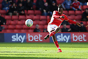Charlton Athletic midfielder Joe Aribo (17) scoring goal to make it 1-0 during the EFL Sky Bet League 1 match between Charlton Athletic and Rochdale at The Valley, London, England on 4 May 2019.