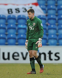 Bristol City Goalkeeper, Frank Fielding  cuts a dejected figure at the end of the game - Photo mandatory by-line: Dougie Allward/JMP - Mobile: 07966 386802 - 21/02/2015 - SPORT - Football - Colchester - Colchester Community Stadium - Colchester United v Bristol City - Sky Bet League One