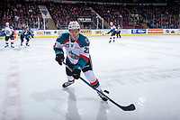 KELOWNA, CANADA - JANUARY 3: Kyle Pow #21 of the Kelowna Rockets tries to block a shot during first period against the Tri-City Americans on January 3, 2017 at Prospera Place in Kelowna, British Columbia, Canada.  (Photo by Marissa Baecker/Shoot the Breeze)  *** Local Caption ***