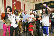 Dart fans in fancy dress during the World Darts Championship at Alexandra Palace, London, United Kingdom on 27 December 2015. Photo by Shane Healey.