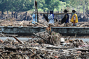 Banda Aceh after the Tsunami. Carrying a body for burial.