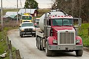 Water Trucks Susquehanna County, Marcellus Shale, Pennsylvania.
