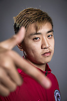 Portrait of Chinese soccer player Sun Zhaoliang of Liaoning Whowin F.C. for the 2017 Chinese Football Association Super League, in Foshan city, south China's Guangdong province, 24 January 2017.