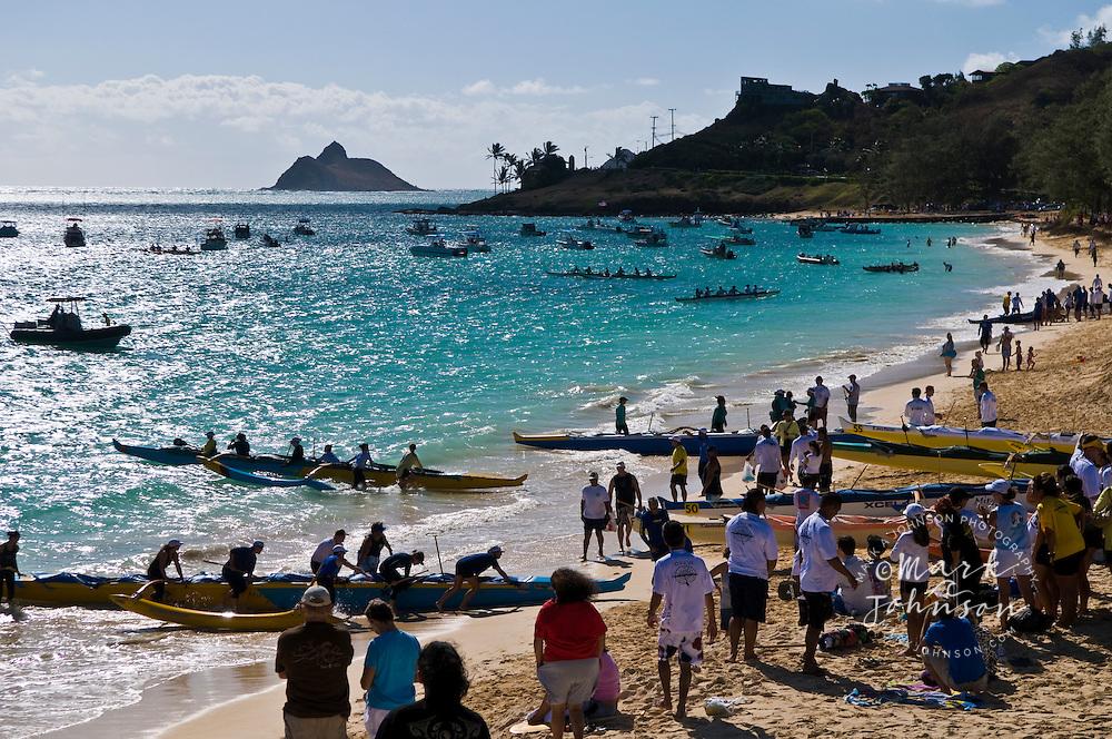 Duke Kahanamoku Long Distance Canoe Race, Kailua Beach Park, Oahu, Hawaii
