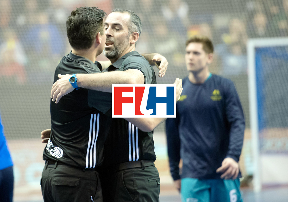 BERLIN - Indoor Hockey World Cup<br /> Bronze: Iran - Australia<br /> foto:  Ben Goentgen and MARTINEZ Luis<br /> WORLDSPORTPICS COPYRIGHT FRANK UIJLENBROEK