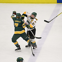 5th year forward Kylee Kupper (21) of the Regina Cougars in action during the Women's Hockey home game on January 20 at Co-operators arena. Credit: Arthur Ward/Arthur Images