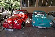 Uzbekistan, Samarqand. Classic Russian cars.