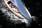 Firefly, S Class, racing in the Museum of Yachting Classic Yacht Regatta.