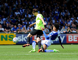 Daniel Leadbitter of Bristol Rovers challenges Gwion Edwards of Peterborough United - Mandatory by-line: Neil Brookman/JMP - 12/08/2017 - FOOTBALL - Memorial Stadium - Bristol, England - Bristol Rovers v Peterborough United - Sky Bet League One