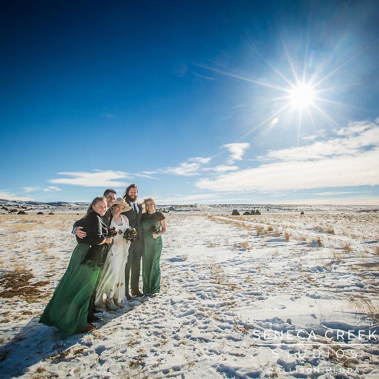 Karen and Michael's Winter Wyoming Wedding
