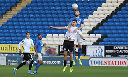 Steven Rigg of Dover Athletic in action with Mark Beevers of Peterborough United - Mandatory by-line: Joe Dent/JMP - 01/12/2019 - FOOTBALL - Weston Homes Stadium - Peterborough, England - Peterborough United v Dover Athletic - Emirates FA Cup second round