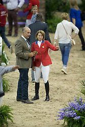John and Beezie Madden, (SUI) <br />  Longines FEI World Cup™ Jumping Final Las Vegas 2015<br />  © Hippo Foto - Dirk Caremans<br /> Final III round 2 - 19/04/15