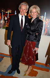 LADY ANNUNCIATA ASQUITH and the EARL OF LICHFIELD at the Harpers & Queen and Moet & Chandon Restaurant Awards for 2004 held at Claridges, Brook Street, London on 1st November 2004.<br /><br />NON EXCLUSIVE - WORLD RIGHTS