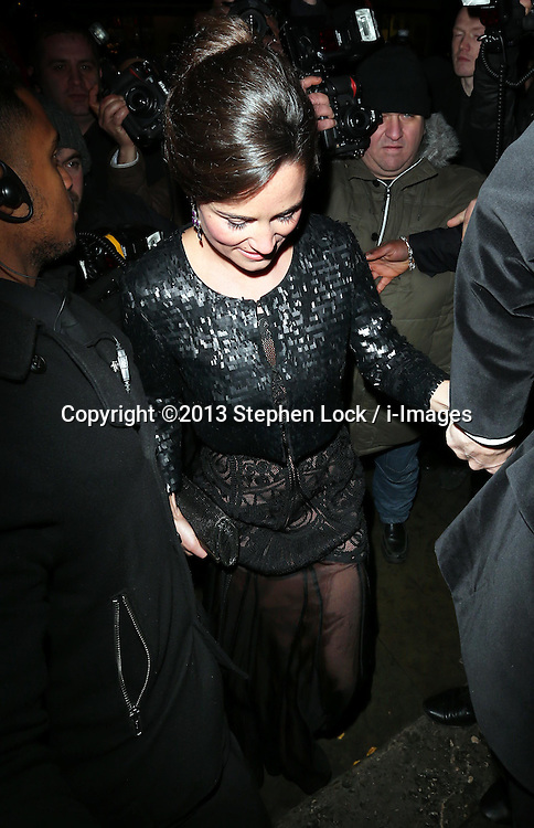Pippa Middleton arriving at the Sugarplum Dinner charity event in London, Wednesday, 20th November 2013. Picture by Stephen Lock / i-Images