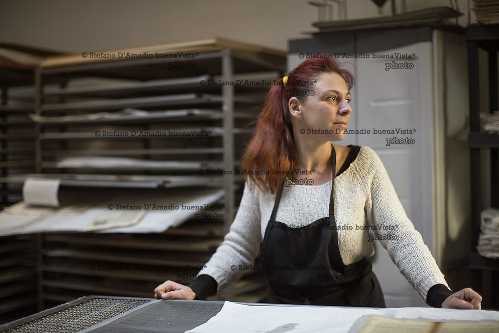 Carola Gottscher figlia e socia del laboratorio di restauro del libro<br />