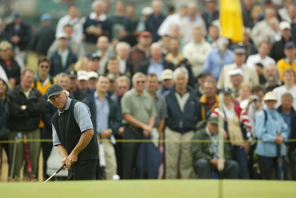 Greg Norman..2003 British Open..First Round..Royal St. George's Golf Club..Sandwich, Kent, England..Thursday, July 17  2003..photograph by Darren Carroll