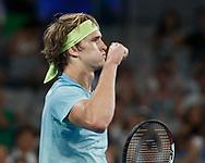 ALEXANDER ZVEREV (GER) macht die Faust und jubelt,Jubel,Emotion,<br /> <br /> <br /> Tennis - Australian Open 2018 - Grand Slam / ATP / WTA -  Melbourne  Park - Melbourne - Victoria - Australia  - 18 January 2018.