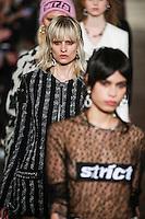 Veronika Vilim walks the runway wearing Alexander Wang Fall 2016 during New York Fashion Week on February 13, 2016