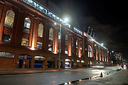 General view outside Ibrox Stadium, Glasgow, Scotland before the Europa League group stage match between Rangers FC and Villareal CF on 29 November 2018.
