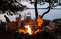 Dinner barbecue on Bear Island.  ©2016 Karen Bobotas Photographer