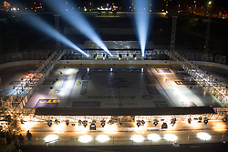 Preparing stadium Bezigrad for Winter Classic of HDD Olimpija Ice Fest 2013, on January 2, 2013 in Stadium Bezigrad, Ljubljana, Slovenia. (Photo By Matic Klansek Velej / Sportida.com)