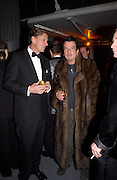 Rob Hersov and Nicky Haslam, Fundraising party with airline theme in aid of the Old Vic and to celebrate the appointment of Kevin Spacey as artistic director.  <br />Old Billinsgate Market.  5 February 2003. © Copyright Photograph by Dafydd Jones 66 Stockwell Park Rd. London SW9 0DA Tel 020 7733 0108 www.dafjones.com