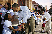 15.APRIL.2012. CARTAGENA<br /> <br /> PRESIDENT BARACK OBAMA GREETS PARTICIPANTS AFTER A LAND TITLING EVENT AT THE PLAZA DE SAN PEDRO, CARTAGENA, COLOMBIA. PRESIDENT JUAN MANUEL SANTOS OF COLOMBIA IS SEEN AT RIGHT. <br /> <br /> BYLINE: EDBIMAGEARCHIVE.CO.UK<br /> <br /> *THIS IMAGE IS STRICTLY FOR UK NEWSPAPERS AND MAGAZINES ONLY*<br /> *FOR WORLD WIDE SALES AND WEB USE PLEASE CONTACT EDBIMAGEARCHIVE - 0208 954 5968*
