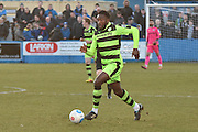 Forest Green Rovers Manny Monthe(3)  during the Vanarama National League match between Barrow and Forest Green Rovers at Holker Street, Barrow, United Kingdom on 28 January 2017. Photo by Mark Pollitt.