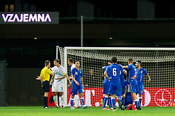 Players of team Italy celebrate during football match between U21 National Teams of Slovenia and Italy in 4th Round of UEFA 2017 European Under-21 Championship Qualification on October 8, 2015 in stadium Bonifika, Koper / Capodistria, Slovenia. Photo by Urban Urbanc / Sportida