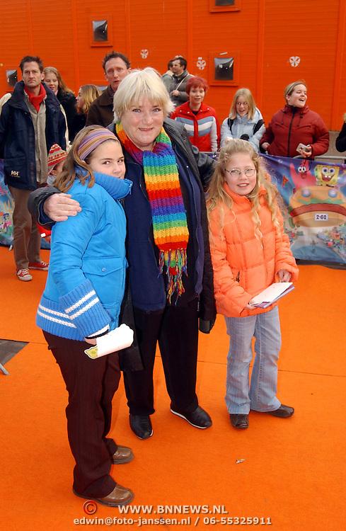 Premiere Sponce Bob the movie, Nelly Frijda en kleinkinderen