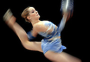 RHYTHMIC21, SPT, TOM LYNN, 3.-Mary Sanders of toronto Canada performs in the senior division of the all-around rhythmic finals at the Midwest Center Friday June 20, 2003.