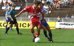 BERLIN, GERMANY - Sunday, August 7, 1994: Liverpool's Ian Rush during a preseason friendly between Hertha BSC Berlin and Liverpool FC at the Olympiastadion. Liverpool won 3-0. (Pic by David Rawcliffe/Propaganda)