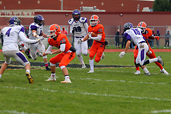 28 October 2017: Downers Grove North Trojans at Normal Community Ironmen. 1st Round playoff, IHSA football, Normal Illinois<br /> <br /> #nchsironmen  #IronFootball  #McLeanCountyU5  #alphoto513 #IHSA #IHSAFootball