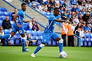Peterborough United midfielder Siriki Dembele (10) on the ball during the Pre-Season Friendly match between Peterborough United and Bolton Wanderers at London Road, Peterborough, England on 28 July 2018. Picture by Nigel Cole.