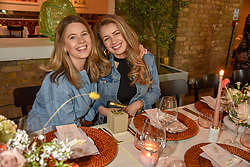 Tarka Russell and Alice Law at a cocktail and dinner hosted by fashion label Free People at Free People 38-39 Duke of York Square, Chelsea, London England. 21 May 2019.