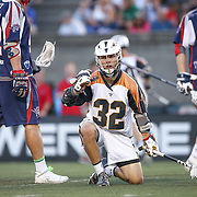 Jordan Wolf #32 of the Rochester Rattlers celebrates a goal during the game at Harvard Stadium on August 9, 2014 in Boston, Massachusetts. (Photo by Elan Kawesch)