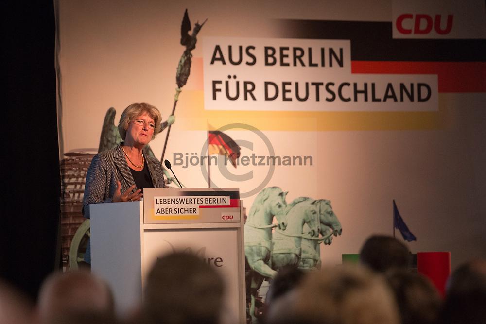 Berlin, Germany - 16.05.2017<br /> <br /> Die Berliner CDU Landesvorsitzende Monika Gruetters beim Buergerkonvent der CDU Berlin.<br /> <br /> Photo: Bjoern Kietzmann