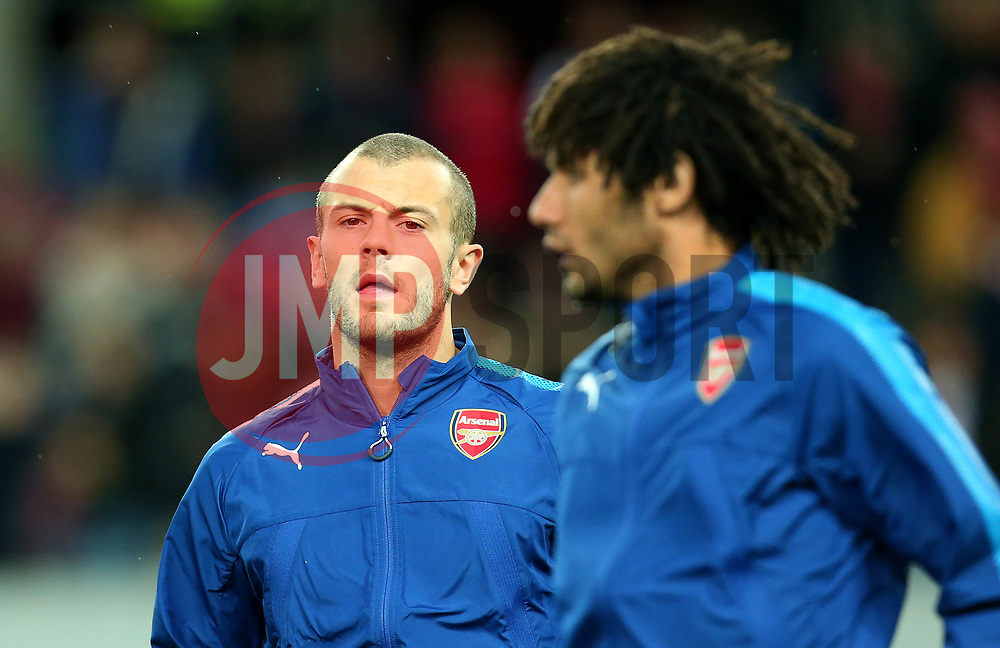 Jack Wilshere of Arsenal and Mohamed Elneny of Arsenal - Mandatory by-line: Robbie Stephenson/JMP - 23/11/2017 - FOOTBALL - RheinEnergieSTADION - Cologne,  - Cologne v Arsenal - UEFA Europa League Group H