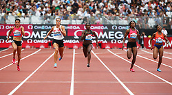 July 22, 2018 - London, United Kingdom - L-R Jenna Prandini of USA Dafne Schippers of Netherlands Dina Asher-Smith of Great Britain and Northern Ireland Shericka Jackson of Jamaica and Elaine Thompson of Jamaica compete in the 200m Women .during the Muller Anniversary Games IAAF Diamond League Day Two at The London Stadium on July 22, 2018 in London, England. (Credit Image: © Action Foto Sport/NurPhoto via ZUMA Press)