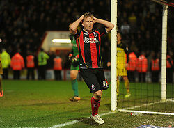 dejected Bournemouth's Matt Ritchie  - Photo mandatory by-line: Alex James/JMP - Tel: Mobile: 07966 386802 18/01/2014 - SPORT - FOOTBALL - Goldsands Stadium - Bournemouth - Bournemouth v Watford - Sky Bet Championship