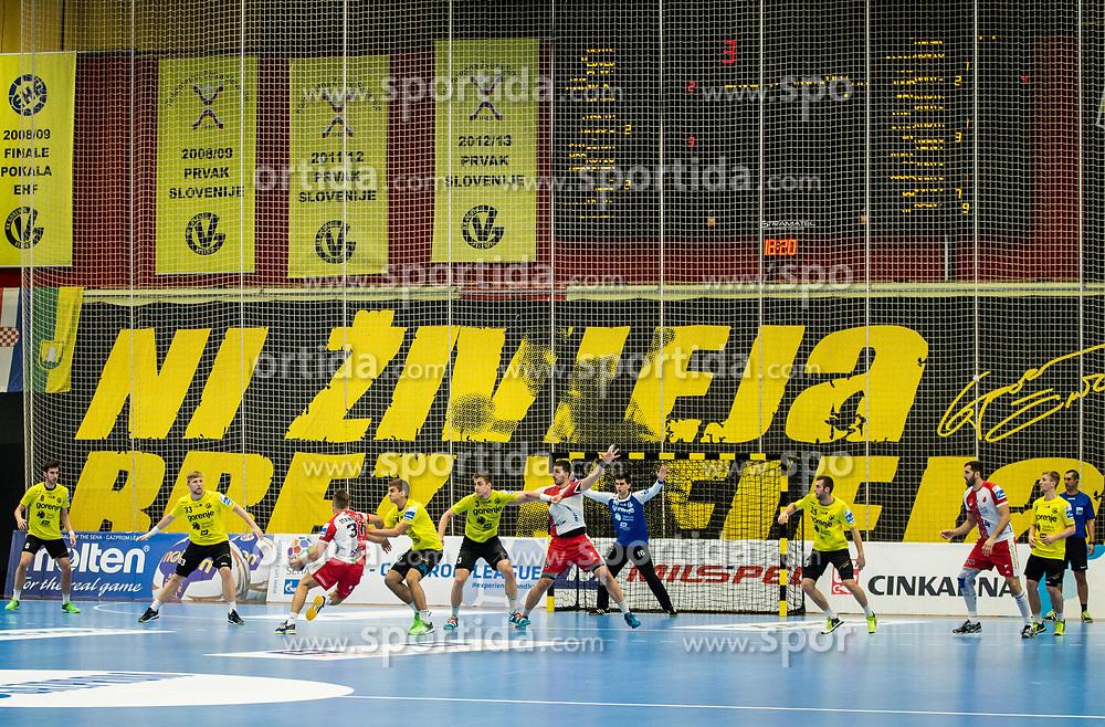 Red Arena during handball match between RK Gorenje Velenje and Vojvodina in Round #5 of SEHA League 2017/18, on October 2, 2017 in Rdeca dvorana, Velenje, Slovenia. (Photo by Vid Ponikvar / Sportida)
